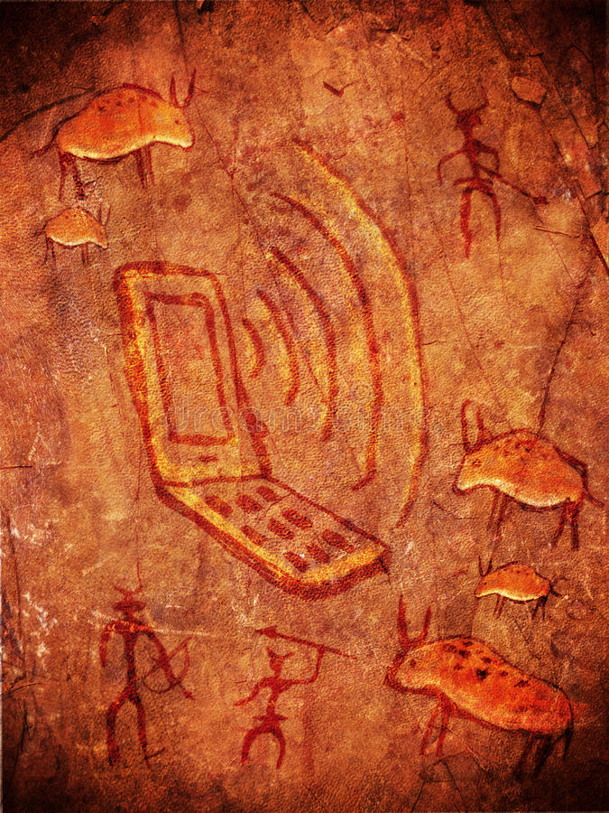 史前洞的油漆 库存例证