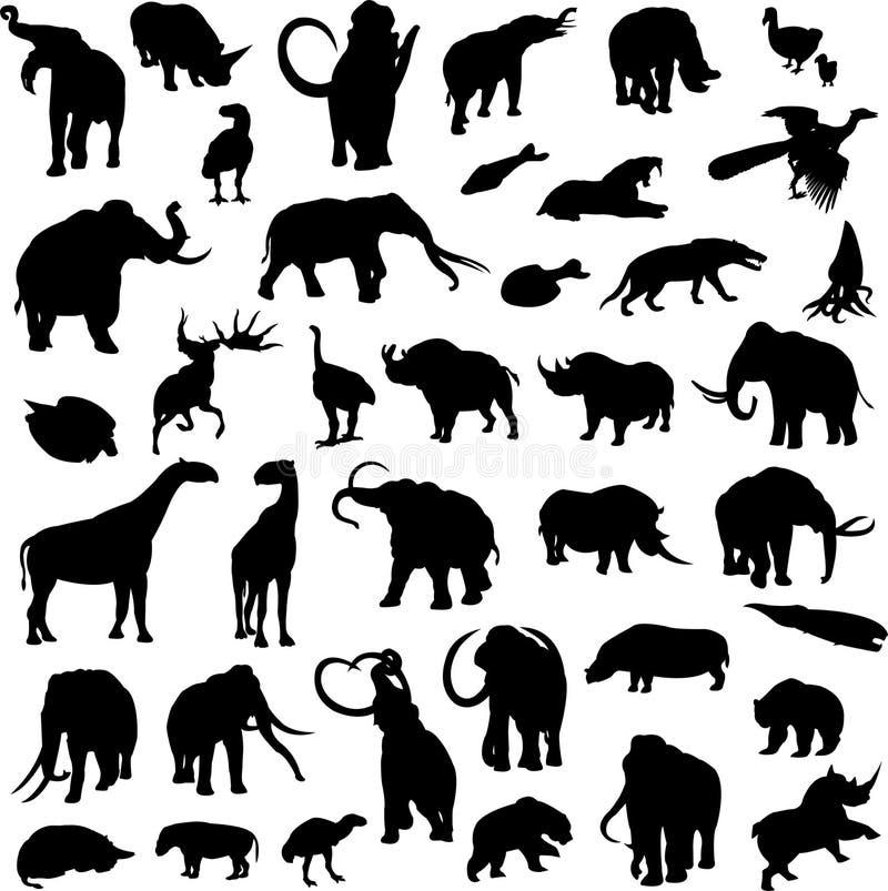 史前的动物 皇族释放例证