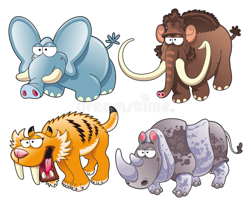 史前的动物 向量例证