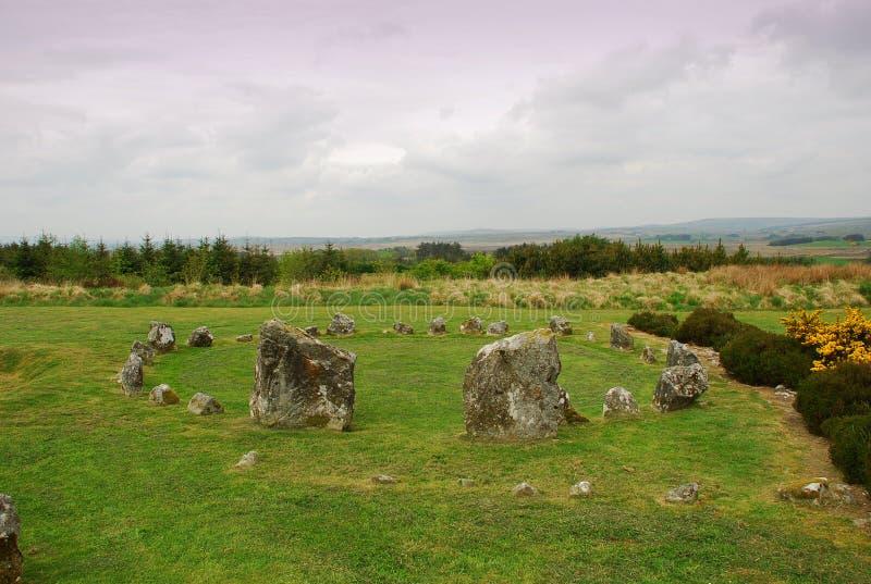 史前石圈子,北爱尔兰 免版税库存照片