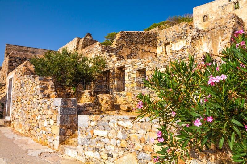 史宾纳隆加岛废墟 免版税库存图片