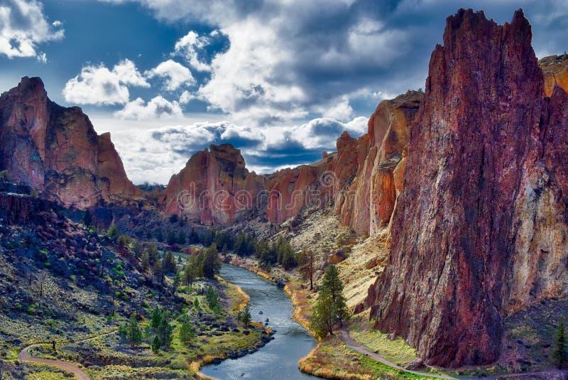 史密斯岩石国家公园在中央俄勒冈 免版税图库摄影