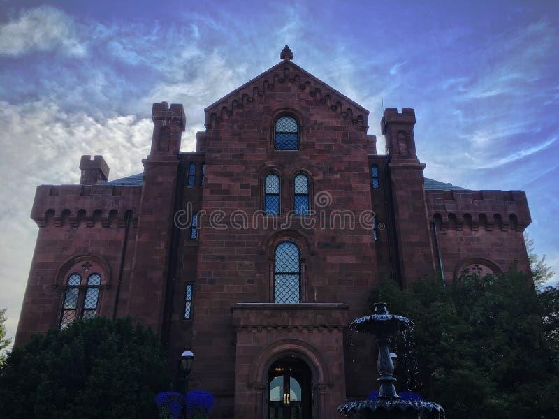 史密松宁城堡在华盛顿D C 库存照片