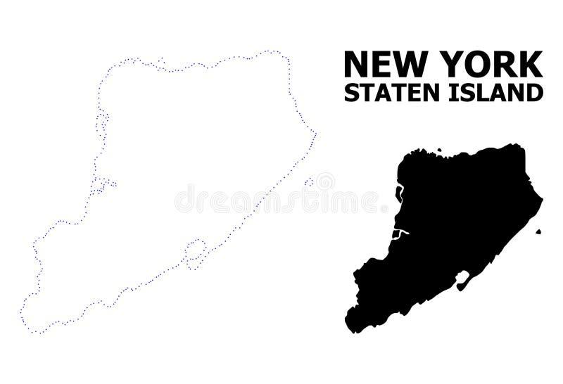 史泰登岛传染媒介等高被加点的地图有名字的 皇族释放例证