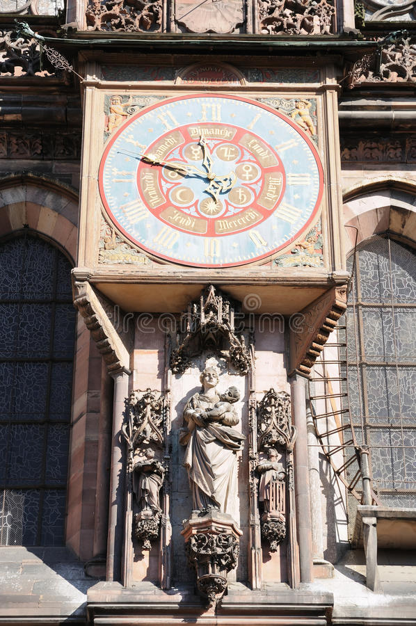 史特拉斯堡中世纪大教堂  图库摄影