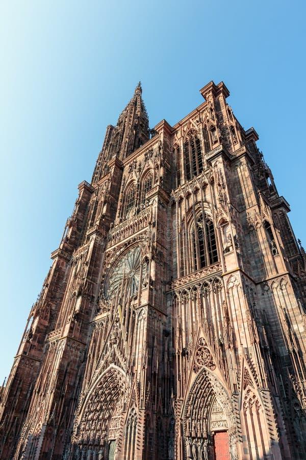 史特拉斯堡壮观的大教堂  免版税库存照片