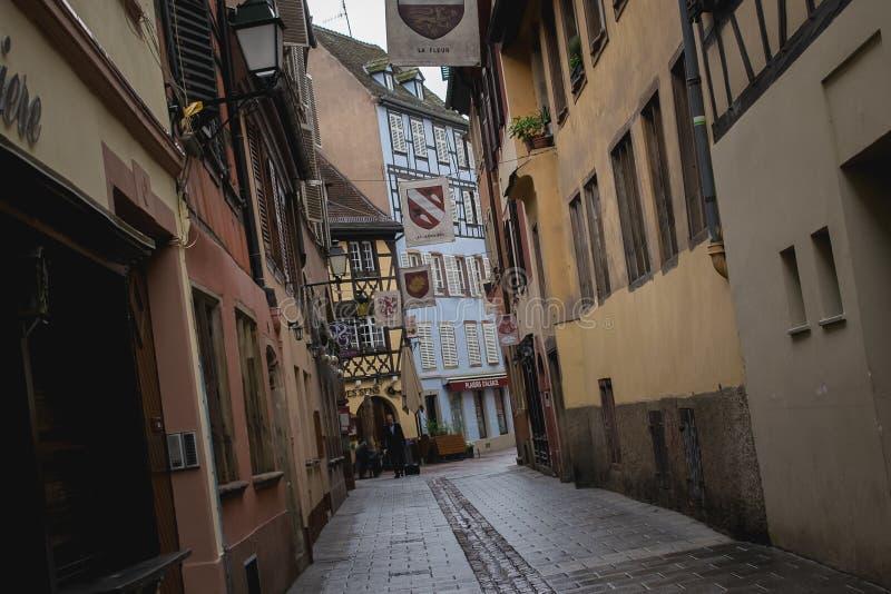 史特拉斯堡,德国,老欧洲老街道  免版税库存照片