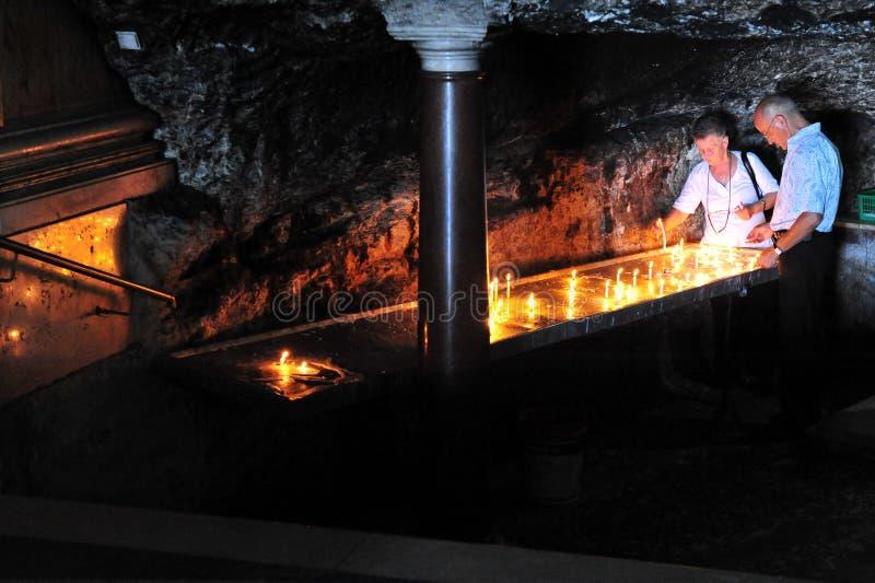 史特拉Maris卡默利特平纹薄呢修道院在海法以色列 免版税库存图片