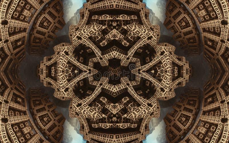 史诗抽象意想不到的海报或背景 从里边未来派看法分数维 样式以箭头的形式 免版税库存图片
