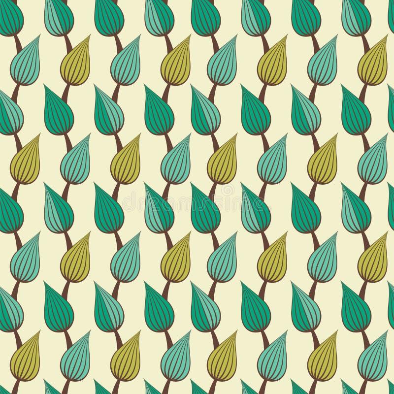 叶子乱画样式 简单的draving的叶子样式 皇族释放例证