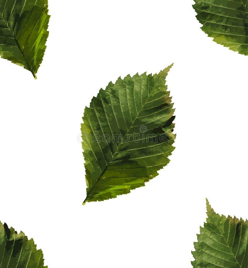叶子仿造无缝 平的传染媒介模板 免版税库存图片