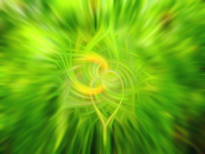 叶子和花抽象绿色自然背景  免版税图库摄影