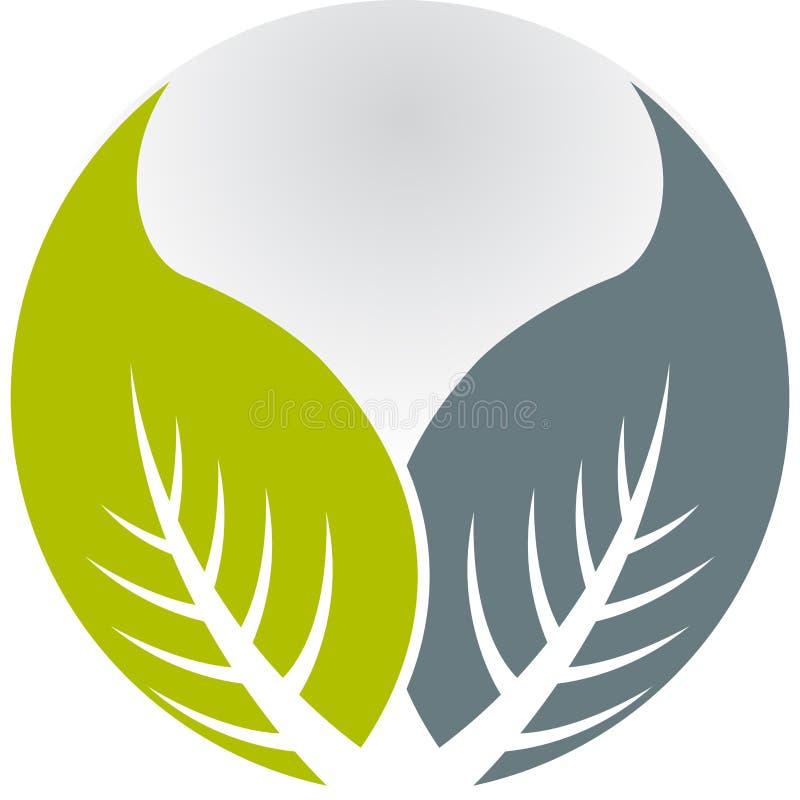 叶子徽标 向量例证
