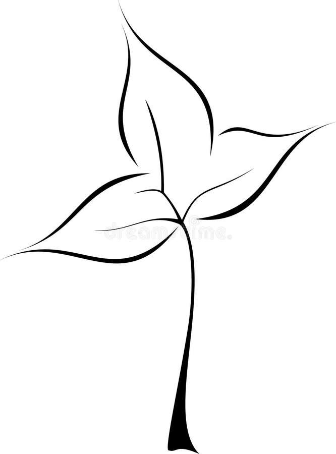 叶子徽标 免版税库存照片