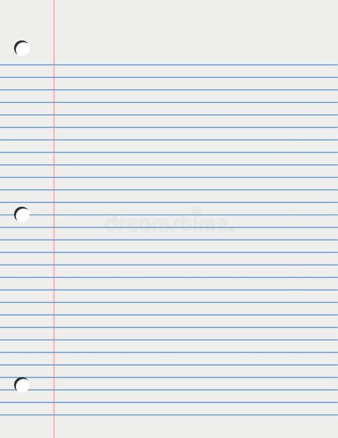 叶子松散纸页 向量例证