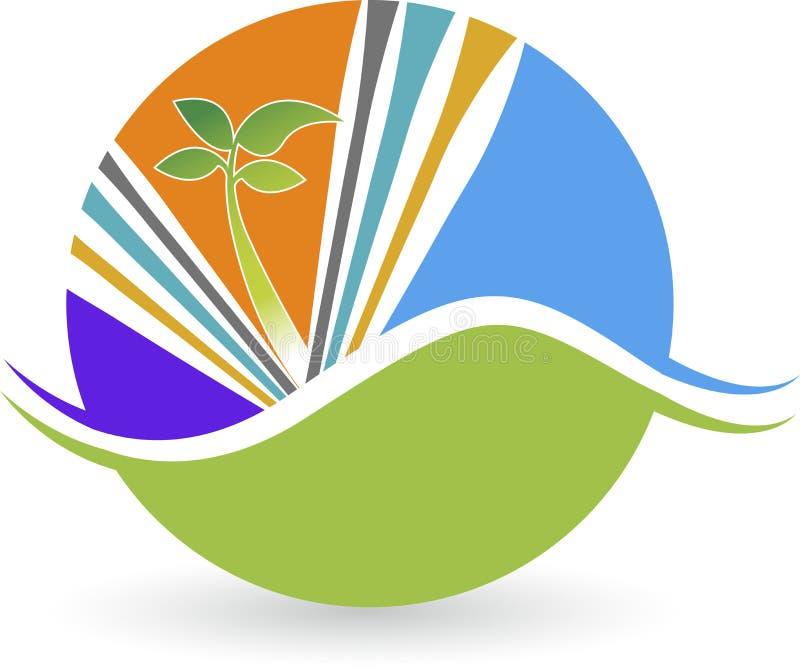 叶子植物商标 向量例证