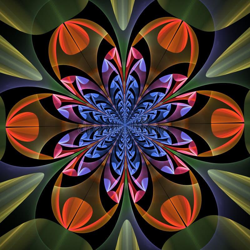 叶子的美妙的对称样式 皇族释放例证