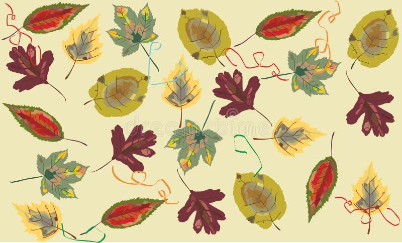 从叶子的背景 免版税库存图片