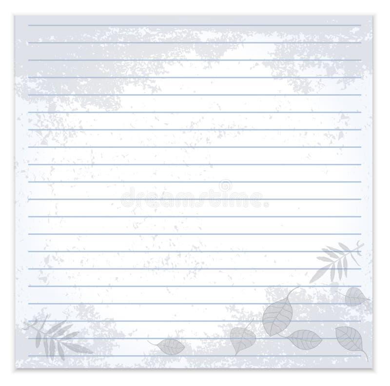 叶子笔记本向量葡萄酒 向量例证
