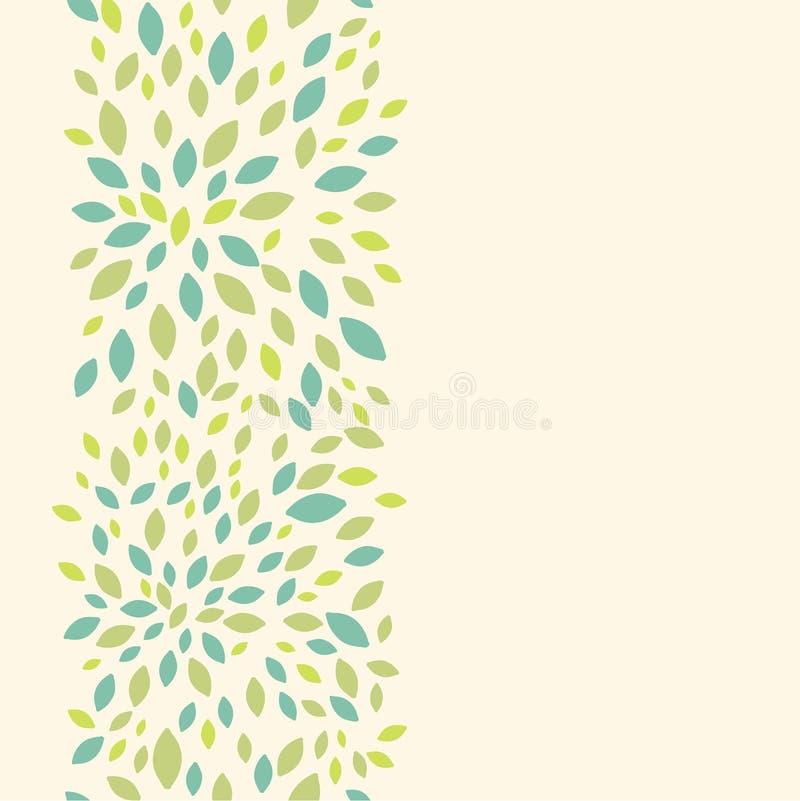 叶子纹理垂直的无缝的样式背景 向量例证