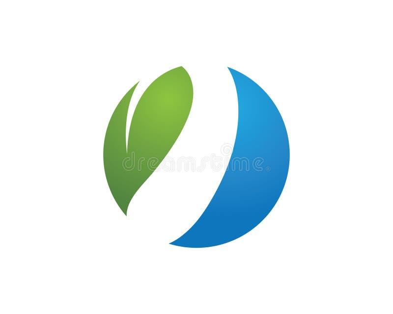 叶子绿色自然商标和标志模板传染媒介 库存例证