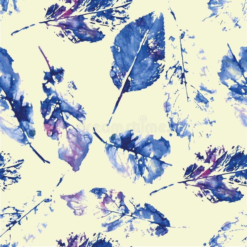 叶子美丽的印刷品的逗人喜爱的样式  皇族释放例证