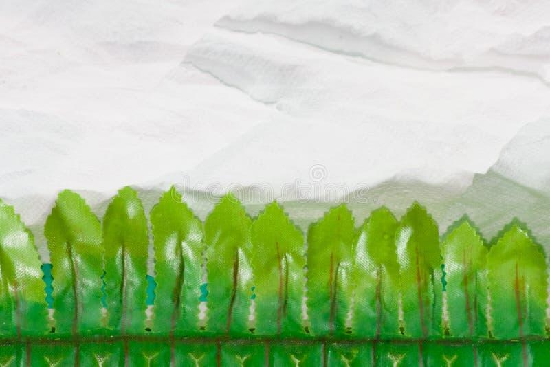 叶子边界背景 免版税库存照片