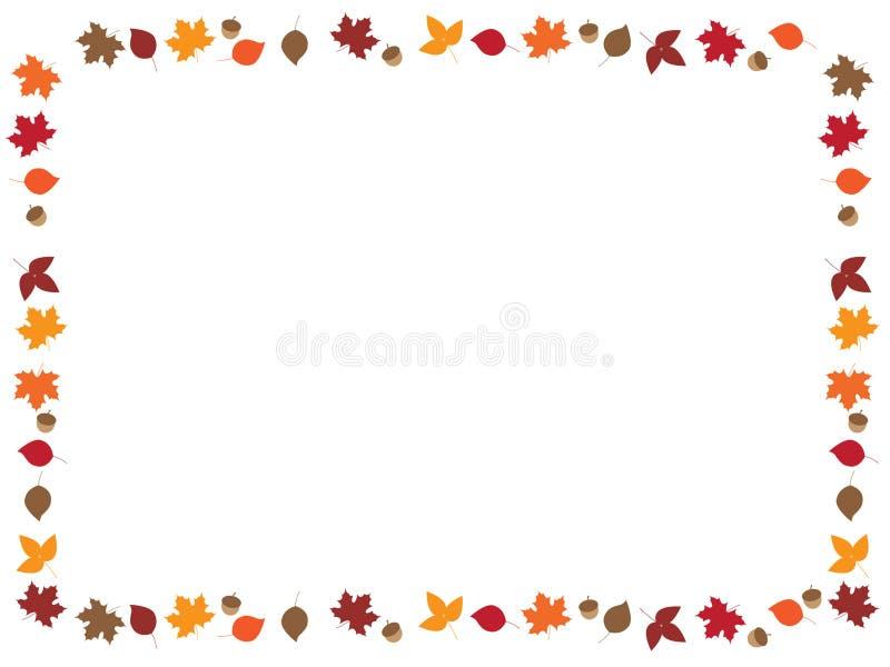 叶子边界 向量例证