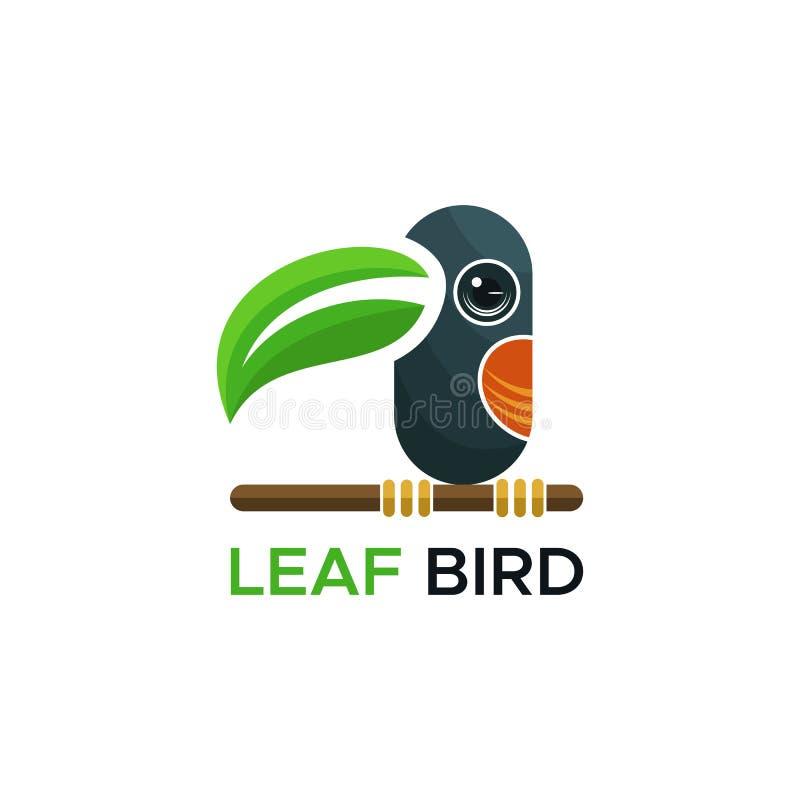 叶子鸟商标传染媒介设计 库存例证