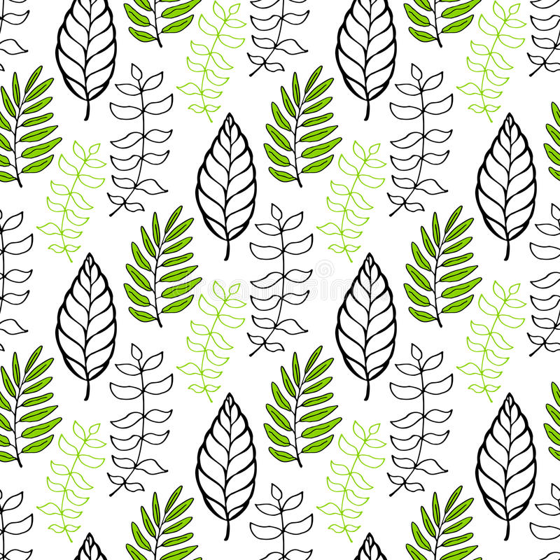 叶子仿造无缝 季节性背景 能为包裹,纺织品、墙纸和成套设计使用 向量例证