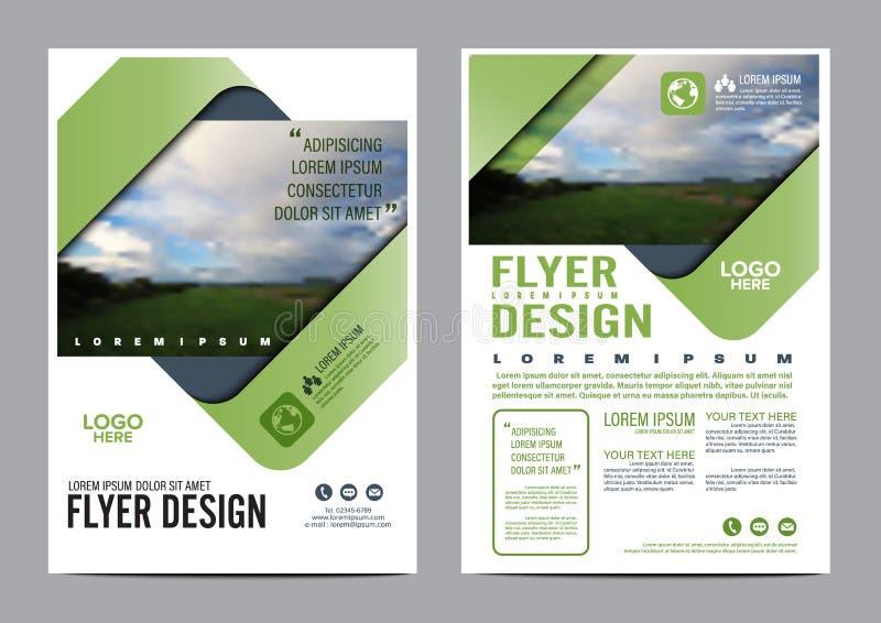绿叶小册子布局设计模板 向量例证