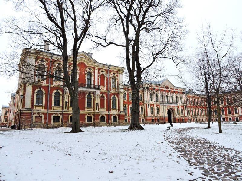 叶尔加瓦宫殿,拉脱维亚 库存照片