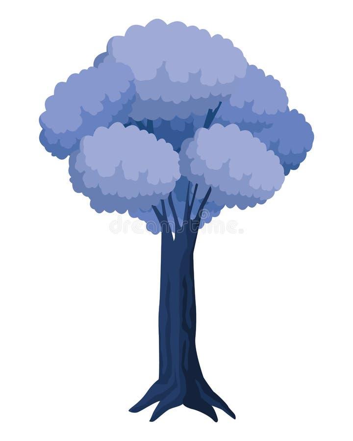 叶茂盛和五颜六色的树象 向量例证