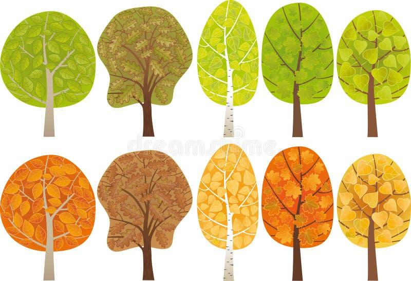 叶茂盛集结构树 皇族释放例证