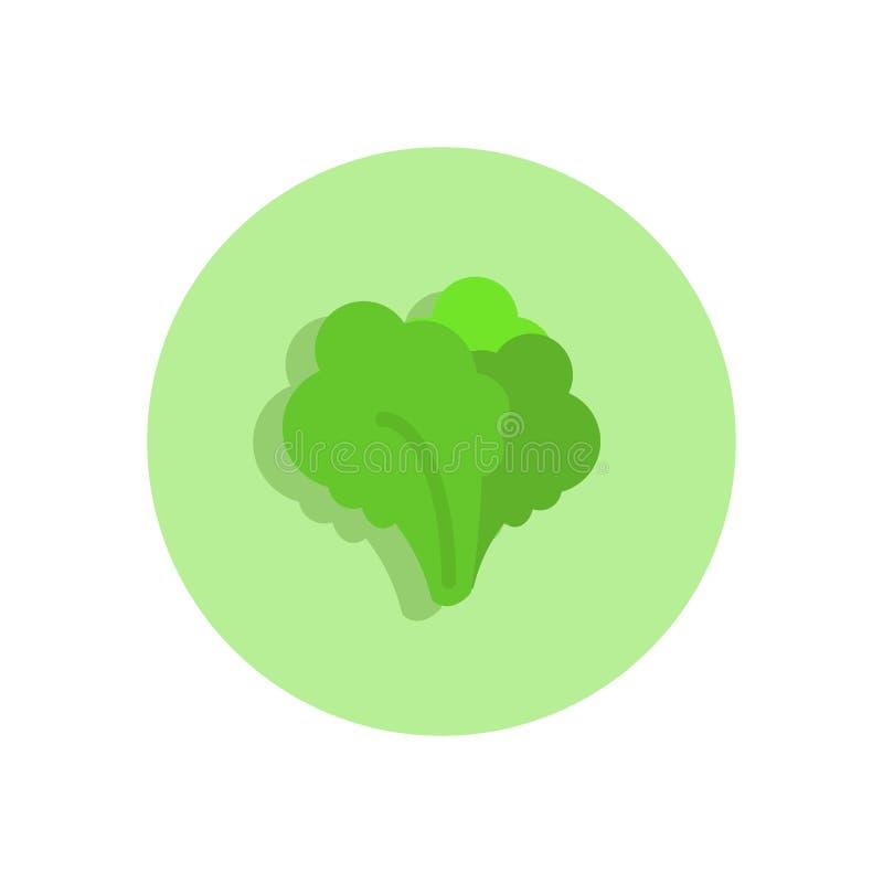 叶茂盛绿色平的象 圆的五颜六色的按钮,圆传染媒介s 皇族释放例证