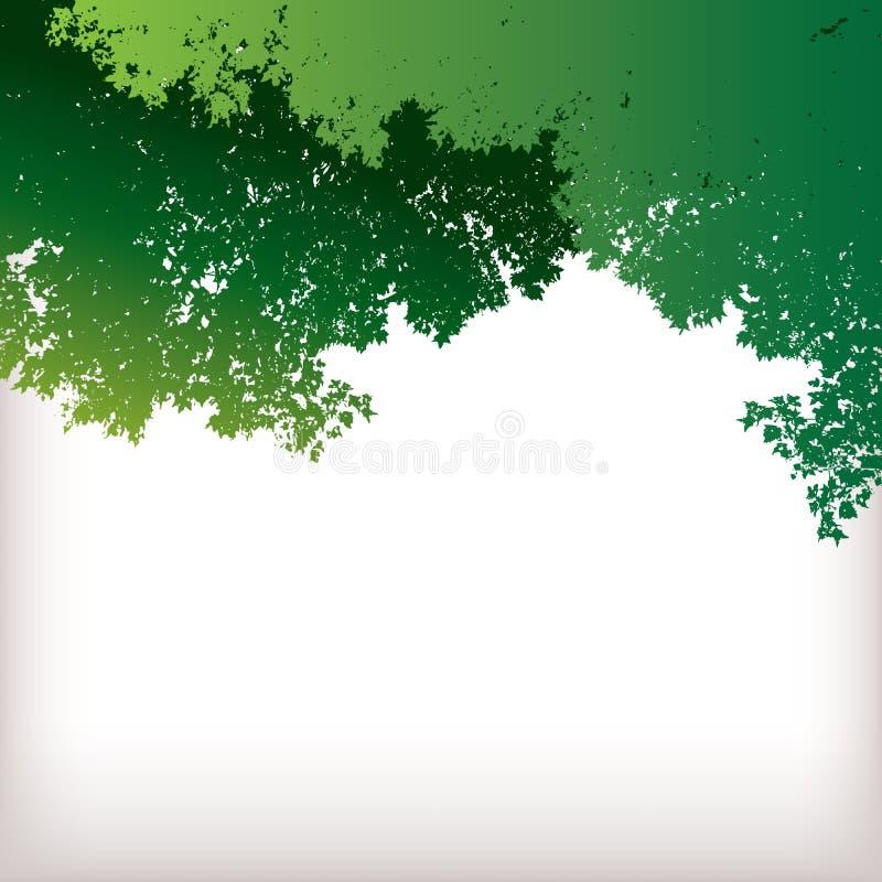 叶茂盛绿色背景 向量例证