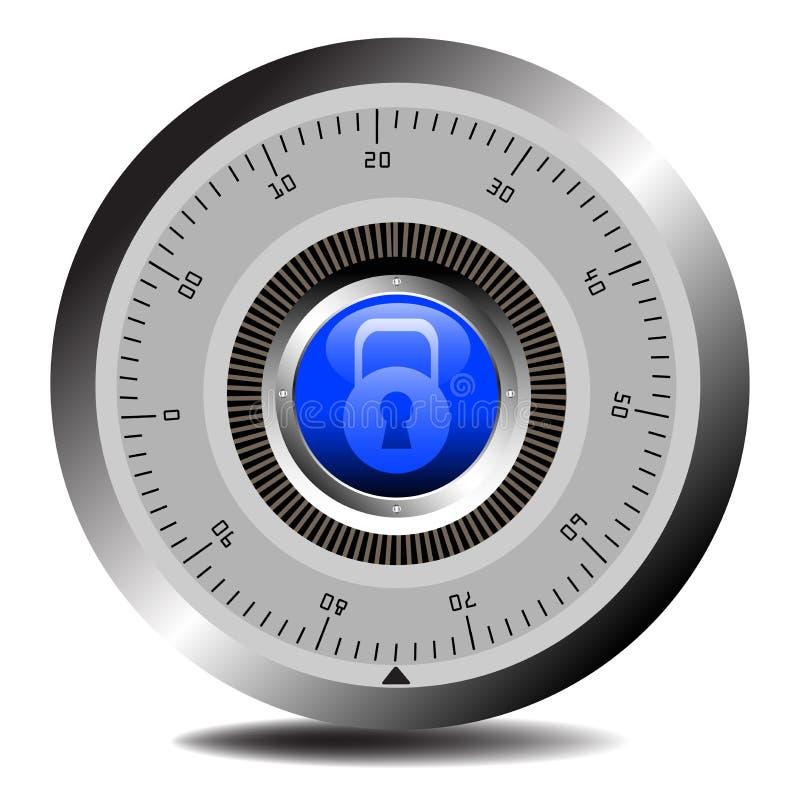 号码锁穹顶 库存例证