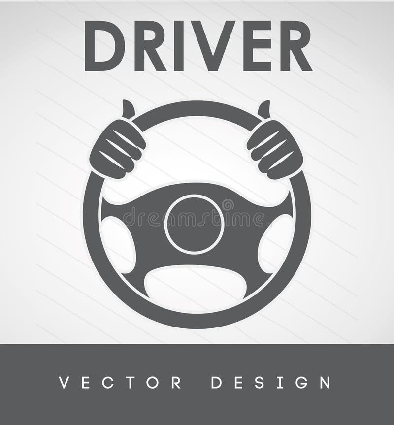 司机汽车设计 库存例证
