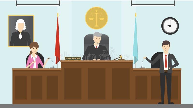 司法法院内部 库存例证