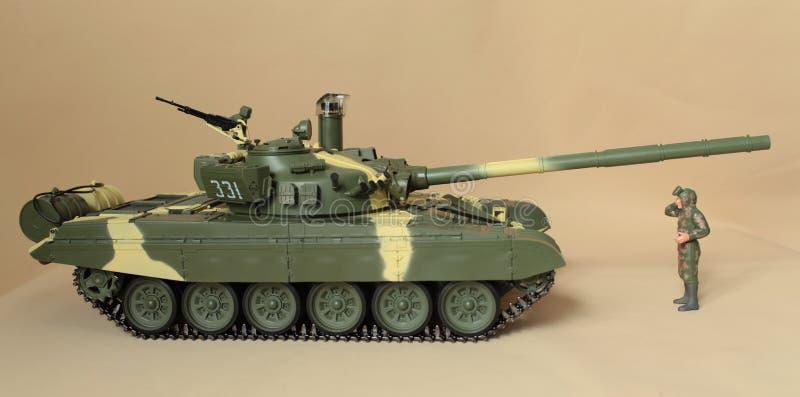 司令员强大的坦克 库存照片