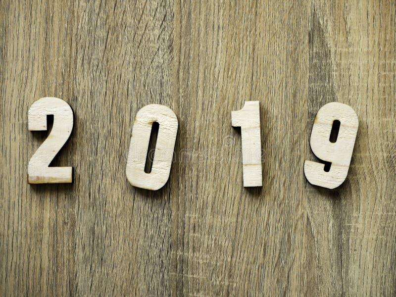 叹气标志数字新年快乐2019年 图库摄影