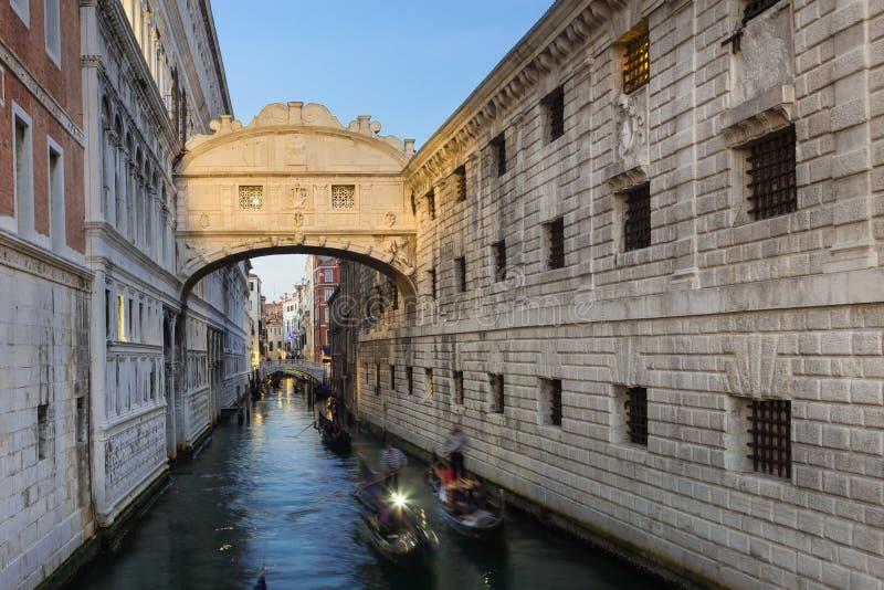 叹气桥梁,威尼斯,意大利 库存图片