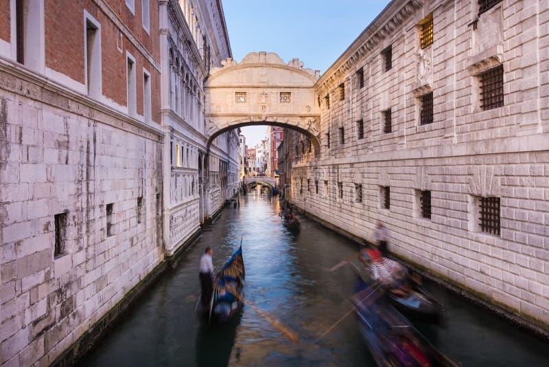 叹气桥梁,威尼斯,意大利 库存照片