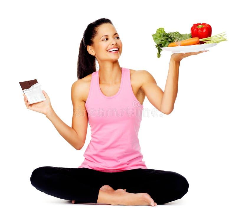 吃健康妇女 图库摄影