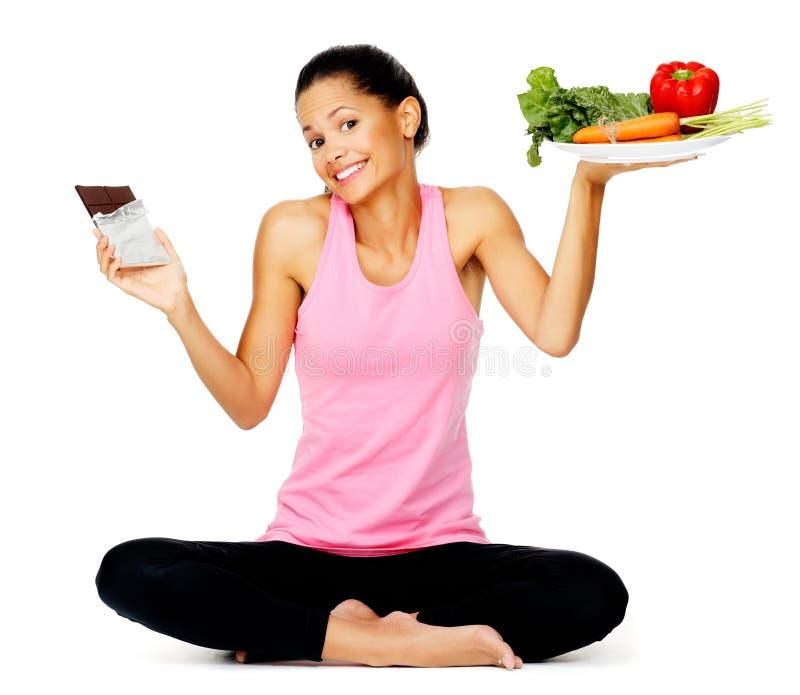 吃健康妇女 免版税库存照片