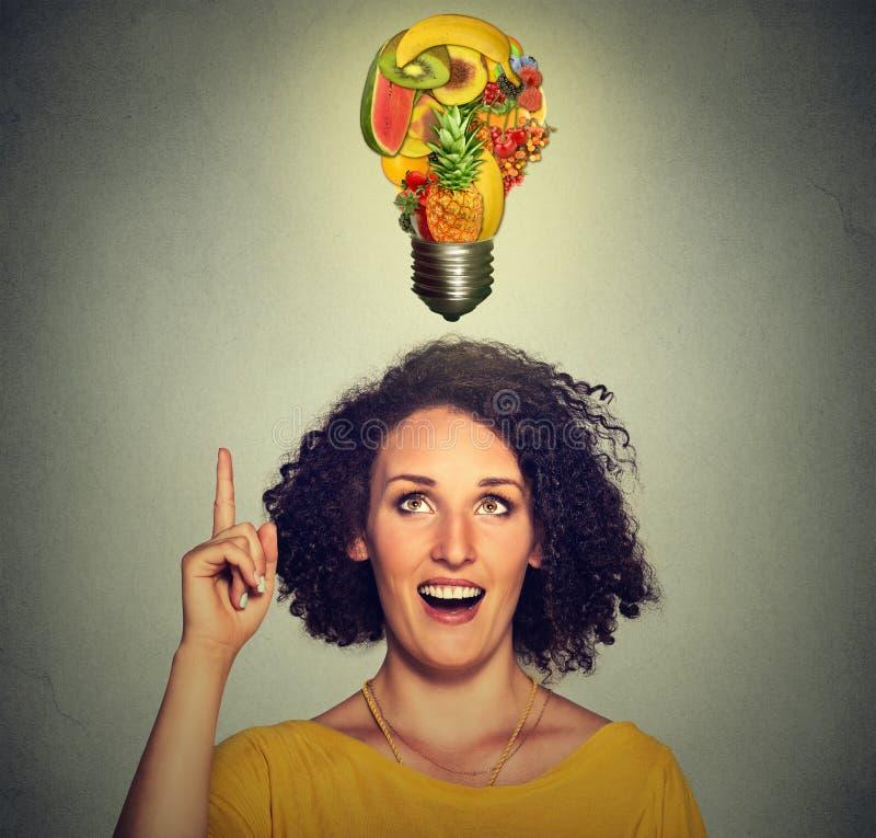 吃健康想法和饮食技巧概念 免版税库存照片
