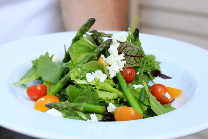 吃健康沙拉 库存图片