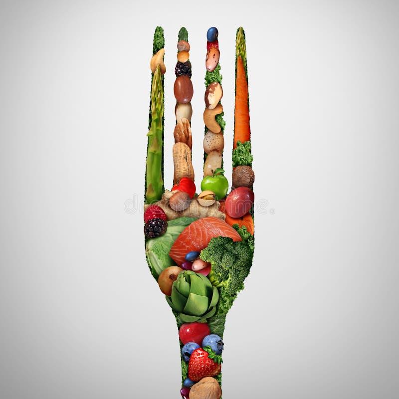 吃健康的食物 库存照片
