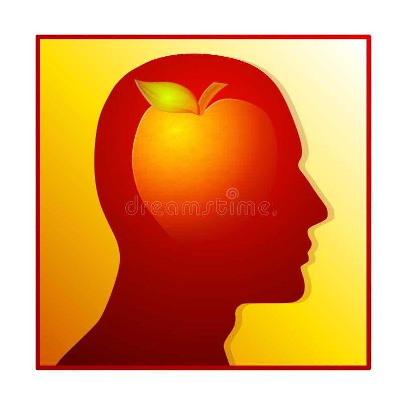 吃健康营养剪影 向量例证