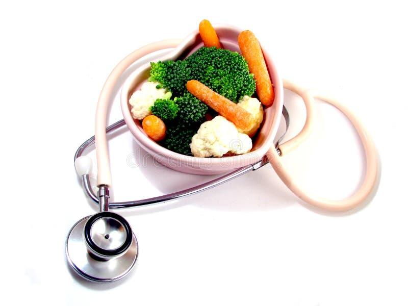 吃健康重点 库存照片
